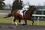 March 14, 2020 : #2 Vanzzy and jockey Kendrick Carmouche win the 33rd running of The Rushaway (BT) $100,000 for owner Daniel Ryan and trainer Michael V. Pino at Turfway Park in Florence, KY on March 14, 2020.  Candice Chavez/ESW/CSM