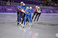 OLYMPIC GAMES: PYEONGCHANG: 24-02-2018, Gangneung Oval, Long Track, Mass Start Men, Chung Jaewon (KOR), ©photo Martin de Jong