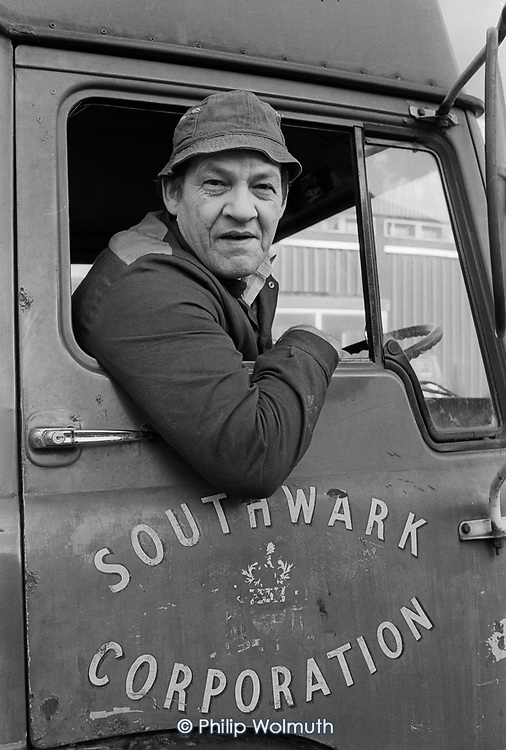Southwark Council refuse worker, Grove Vale Depot.