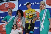 WIELRENNEN: SURHUISTERVEEN: 30-07-2013, Profronde Surhuisterveen, Felicitaties voor nummer 2 Chris Froome, ©foto Martin de Jong