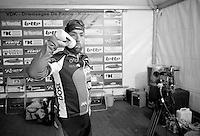 3 Days of De Panne.stage 3a: De Panne - De Panne ..Niko Eeckhout (BEL) in the TV interview tent...