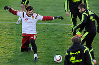 Spanish National Team's  training at Ciudad del Futbol stadium in Las Rozas, Madrid, Spain. In the Pic: Iker Casillas and Jordi Alba. March 25, 2015. (ALTERPHOTOS/Luis Fernandez) /NORTEphoto.com