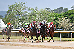 HOT SPRINGS, AR - APRIL 13:  Apple Blossom Handicap at Oaklawn Park on April 13, 2018 in Hot Springs,Arkansas.  .#2 Unbridled Mo with jockey Ricardo Santana, Jr. and #6 Streamline with jockey Gary L. Stevens. and #7 Farrell with jockey Channing Hill.  (Photo by Ted McClenning/Eclipse Sportswire/Getty Images)
