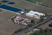 aerial photograph of Ballentine Vineyards (center) and Markham Vineyards (right), St. Helena, Napa County, California