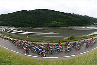 5th June 2021; La Plagne, Tarentaise, France;  Peleton during stage 7 of the 73th edition of the 2021 Criterium du Dauphine Libere cycling race, a stage of 171km with start in Saint-Martin-Le-Vinoux and finish in La Plagne