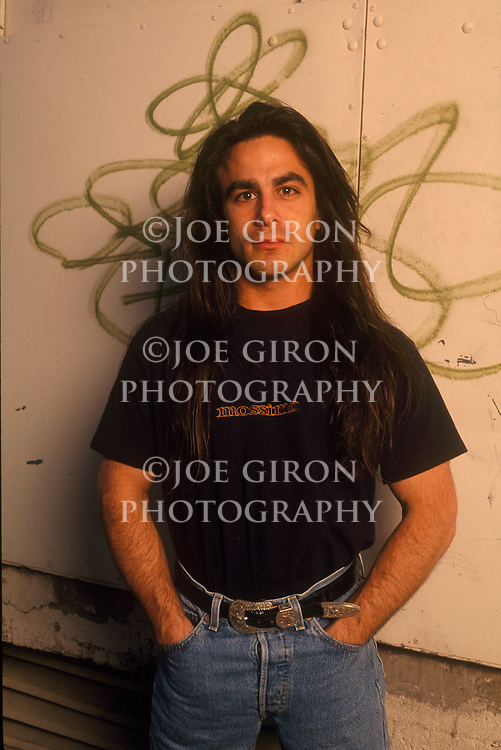 Anthrax guitarist, Dan Spitz, poses for a portrait session