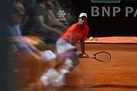 Novak Djokovic of Serbia pictured through a glass thet reflects spectators during the Final match against  Rafael Nadal of Spain . Rafael Nadal won 6-0, 4-6, 6-1 <br /> Roma 19/05/2019 Foro Italico  <br /> Internazionali BNL D'Italia Italian Open <br /> Photo Andrea Staccioli / Insidefoto