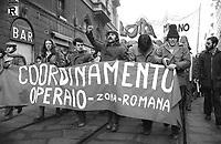 - demonstration of the leftist groups for the right to the home (Milan, january 1977)<br /> <br /> - manifestazione dei gruppi di sinistra per il diritto alla casa (Milano, gennaio 1977)