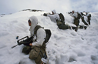 "- mountain troops ""Hunters of the Alps""  during military exercises in High Savoia ....- truppe di montagna ""Cacciatori delle Alpi"" durante esercitazioni militari in Alta Savoia"