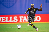 LAKE BUENA VISTA, FL - JULY 16: Gyasi Zardes #11 of the Columbus Crew SC scores a goal during a game between New York Red Bulls and Columbus Crew at Wide World of Sports on July 16, 2020 in Lake Buena Vista, Florida.
