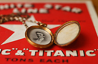 BNPS.co.uk (01202 558833)<br /> Pic: ZacharyCulpin/BNPS<br /> <br /> Pictured: Wallace Hartleys fiancee Maria Robinson.  A gold locket the tragic violinist on the Titanic gave to his sweetheart before he boarded the ill-fated liner sold for £21,000<br /> <br /> Relics salvaged from the sunken ship that rescued the Titanic survivors have sold at auction for £135,000.<br /> <br /> The rare items included the engine room order telegraph the captain of the Carpathia used after he received the SOS from Titanic.<br /> <br /> He moved the handle to 'Full Steam Ahead', instructing staff in the engine room to rapidly increase speed