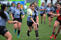 Action from the Hurricanes Girls' 1st XV rugby final between Manukura College and St Mary's College at CET Stadium in Palmerston North, New Zealand on Saturday, 31 August 2019. Photo: Dave Lintott / lintottphoto.co.nz