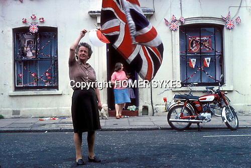 Silver Jubilee celebrations east end Tower Hamlets, London 1977 Uk