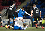 St Johnstone v Rangers…27.02.18…  McDiarmid Park    SPFL<br />Matty Willock comes away with the ball after George Williams is tackled by Sean Goss<br />Picture by Graeme Hart. <br />Copyright Perthshire Picture Agency<br />Tel: 01738 623350  Mobile: 07990 594431