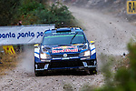 Andreas Mikkelsen/Anders Jaeger (Volkswagen Polo R WRC) during the World Rally Car RACC Catalunya Costa Dourada 2016 / Rally Spain, in Catalunya, Spain. October 15, 2016. (ALTERPHOTOS/Rodrigo Jimenez)