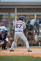 Detroit Tigers Kerry Carpenter (67) at bat during an Instructional League instrasquad game on September 20, 2019 at Tigertown in Lakeland, Florida.  (Mike Janes/Four Seam Images)