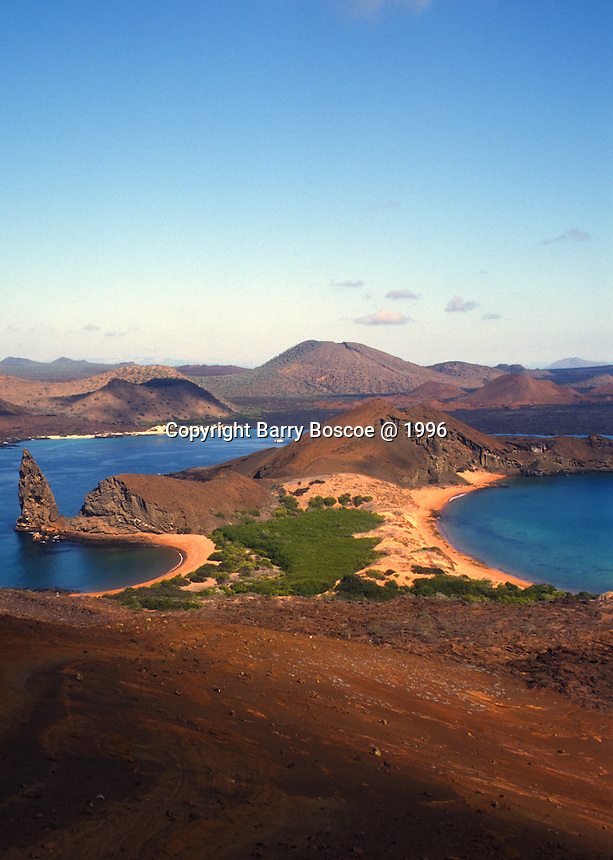 Landscape of ocean and Galapagos Islands in Equador