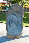 A memorial sculpture at Brennan's Wave in Missoula, Montana