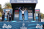 Tadej Pogacar (SLO) UAE Team Emirates wins the overall general classification and the young riders Maglia Bianca of Tirreno-Adriatico Eolo 2021 after Stage 7, an individual time trial running 10.1km around San Benedetto del Tronto, Italy. 16th March 2021. <br /> Photo: LaPresse/Gian Mattia D'Alberto | Cyclefile<br /> <br /> All photos usage must carry mandatory copyright credit (© Cyclefile | LaPresse/Gian Mattia D'Alberto)