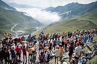 Marc Soler (ESP/Movistar) up the Tourmalet (HC/2115m/19km @7.4%)<br /> <br /> Stage 14: Tarbes to Tourmalet(117km)<br /> 106th Tour de France 2019 (2.UWT)<br /> <br /> ©kramon
