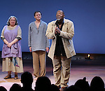 Jayne Houdyshell, Brent Carver and Chuck Cooper during the Broadway Opening Night Performance Curtain Call for 'Romeo and Juliet' at the Richard Rodgers Theatre in New York City on September 19, 2013.