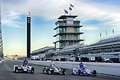 Verizon IndyCar Series<br /> Indianapolis 500 Qualifying<br /> Indianapolis Motor Speedway, Indianapolis, IN USA<br /> Saturday 20 May 2017<br /> Scott Dixon, Chip Ganassi Racing Teams Honda, Ed Carpenter, Ed Carpenter Racing Chevrolet, Alexander Rossi, Andretti Herta Autosport with Curb-Agajanian Honda Verizon P1 Pole Award front row<br /> World Copyright: Scott R LePage<br /> LAT Images