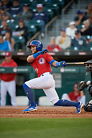 Buffalo Bisons Bo Bichette (13) at bat during an International League game against the Norfolk Tides on June 22, 2019 at Sahlen Field in Buffalo, New York.  Buffalo defeated Norfolk 3-0.  (Mike Janes/Four Seam Images)