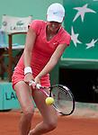 Petra Martic (CRO) wins at Roland Garros in Paris, France on May 30, 2012
