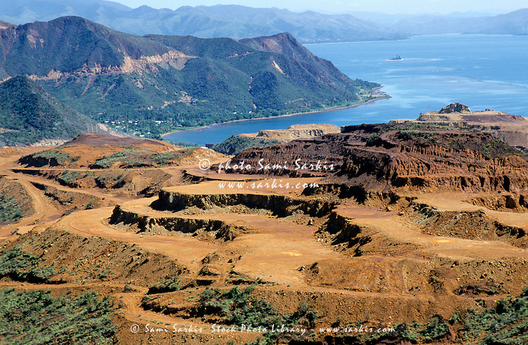 Open-pit mining at Poro, New Caledonia.