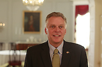 Virginia Governor Terry McAuliffe photographed at the Governors mansion for the Rural Horseshoe Initiative project in Richmond, Va. Photo/Andrew Shurtleff