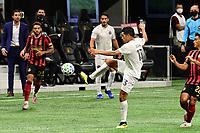 ATLANTA, GA - SEPTEMBER 02: Victor Ulloa #13 of Inter Miami CF controls the ball during a game between Inter Miami CF and Atlanta United FC at Mercedes-Benz Stadium on September 02, 2020 in Atlanta, Georgia.