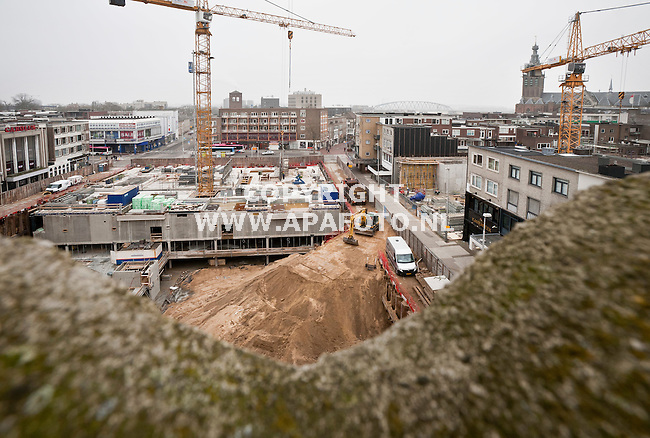Nijmegen, 020312<br /> Bouw Plein 1944. <br /> Foto: Sjef Prins - APA Foto