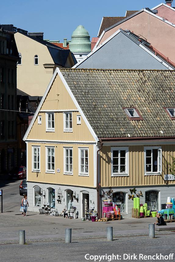 Häuser hinter dem Rathaus in Karlskrona, Provinz Blekinge, Schweden, Europa, UNESCO-Weltkulturerbe<br /> Houses near townhall  in Karlskrona, Province Blekinge, Sweden