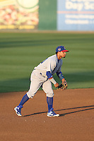 Franklin Barreto (10) of the Stockton Ports in the field during a game against the Rancho Cucamonga Quakes at LoanMart Field on June 13, 2015 in Rancho Cucamonga, California. Stockton defeated Rancho Cucamonga, 14-2. (Larry Goren/Four Seam Images)