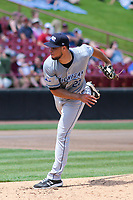 West Michigan Whitecaps starting pitcher Jesus Rodriguez (27) delivers a pitch during a game against the Wisconsin Timber Rattlers on May 22, 2021 at Neuroscience Group Field at Fox Cities Stadium in Grand Chute, Wisconsin.  (Brad Krause/Four Seam Images)