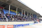 Packed grandstand in the famous Roubaix Velodrome await  the end of the 113th edition of the Paris-Roubaix 2015 cycle race held over the cobbled roads of Northern France. 12th April 2015.<br /> Photo: Eoin Clarke www.newsfile.ie