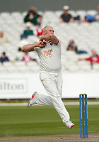 6th July 2021; Emirates Old Trafford, Manchester, Lancashire, England; County Championship Cricket, Lancashire versus Kent, Day 3; First wicket of the day fell to Darren Stevens of Kent, who bowled Steven Croft of Lancashire for 13