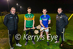 Bryan Murphy (left) captain, Fintan O'Connor (Manager) and Colm Harty )Vice captain), Bryan Murphy (Captain) and Brendan Cummins (Selector) hurlers