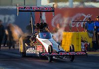 Feb 3, 2016; Chandler, AZ, USA; NHRA top fuel driver Steve Torrence during pre season testing at Wild Horse Pass Motorsports Park. Mandatory Credit: Mark J. Rebilas-USA TODAY Sports