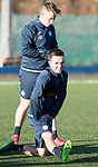 St Johnstone Training…08.12.17<br />Stefan Scougall and Kyle McLean at McDiarmid Park today during training ahead of tomorrow's game at Hamilton<br />Picture by Graeme Hart.<br />Copyright Perthshire Picture Agency<br />Tel: 01738 623350  Mobile: 07990 594431