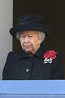 ***NO UK*** REF: MTX 193994 - Queen Elizabeth II attends the annual Remembrance Sunday memorial at The Cenotaph in London, England.  NOVEMBER 10th 2019. Credit: Trevor Adams/Matrix/MediaPunch
