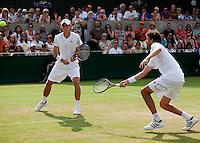 25-06-10, Tennis, England, Wimbledon, Dubbel De Bakker en Haase (R) door naar de tweede ronde