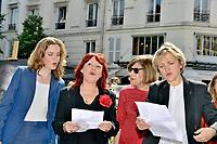 Nathalie KOSCIUSKO-MORIZET, Pia MOUSTAKI, Tante de Moustaki, Florence BERTHOUT - Inauguration Place Georges Moustaki - 23/5/2017 - Paris - France