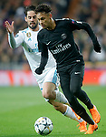 Real Madrid's Isco Alarcon (l) and Paris Saint-Germain's Neymar Jr during Champions League Round of 16 1st leg match. February 14,2018. (ALTERPHOTOS/Acero)