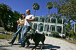 Paula Toso, Ron Craddock and their doberman James on Sunday, December 9, 2008, at the DeBary Hall Mansion in DeBary. They are getting married July 13, 2009. (Chad Pilster, PilsterPhotography.net)