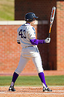 Sal Pezzino #43 of the High Point Panthers at bat against the Dayton Flyers at Willard Stadium on February 26, 2012 in High Point, North Carolina.    (Brian Westerholt / Four Seam Images)