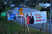 2020 New Zealand election hoardings on Liardet Street in Wellington, New Zealand on Sunday, 2 August 2020. Photo: Dave Lintott / lintottphoto.co.nz