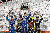 Verizon IndyCar Series<br /> Bommarito Automotive Group 500<br /> Gateway Motorsports Park, Madison, IL USA<br /> Saturday 26 August 2017<br /> Josef Newgarden, Team Penske Chevrolet, Scott Dixon, Chip Ganassi Racing Teams Honda, Simon Pagenaud, Team Penske Chevrolet Celebrate on the podium<br /> World Copyright: Perry Nelson<br /> LAT Images