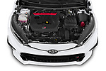 Car Stock 2021 Toyota Yaris GR 3 Door Hatchback Engine  high angle detail view