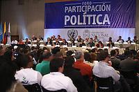 BOGOTÁ - COLOMBIA -28-04-2013. El Foro de Participación Política es una propuesta de la Mesa de Conversaciones que se adelanta en La Habana- Cuba entre el Gobierno Nacional y las Fuerzas Armadas Revolucionarias de Colombia (FARC) - EP. (Foto: VizzorImage / Staff ). The Forum for Political Participation is a proposal by the Bureau of Conversations that is underway in Havana-Cuba between the national government and the Revolutionary Armed Forces of Colombia (FARC) -EP (Photo: VizzorImage / Staff).